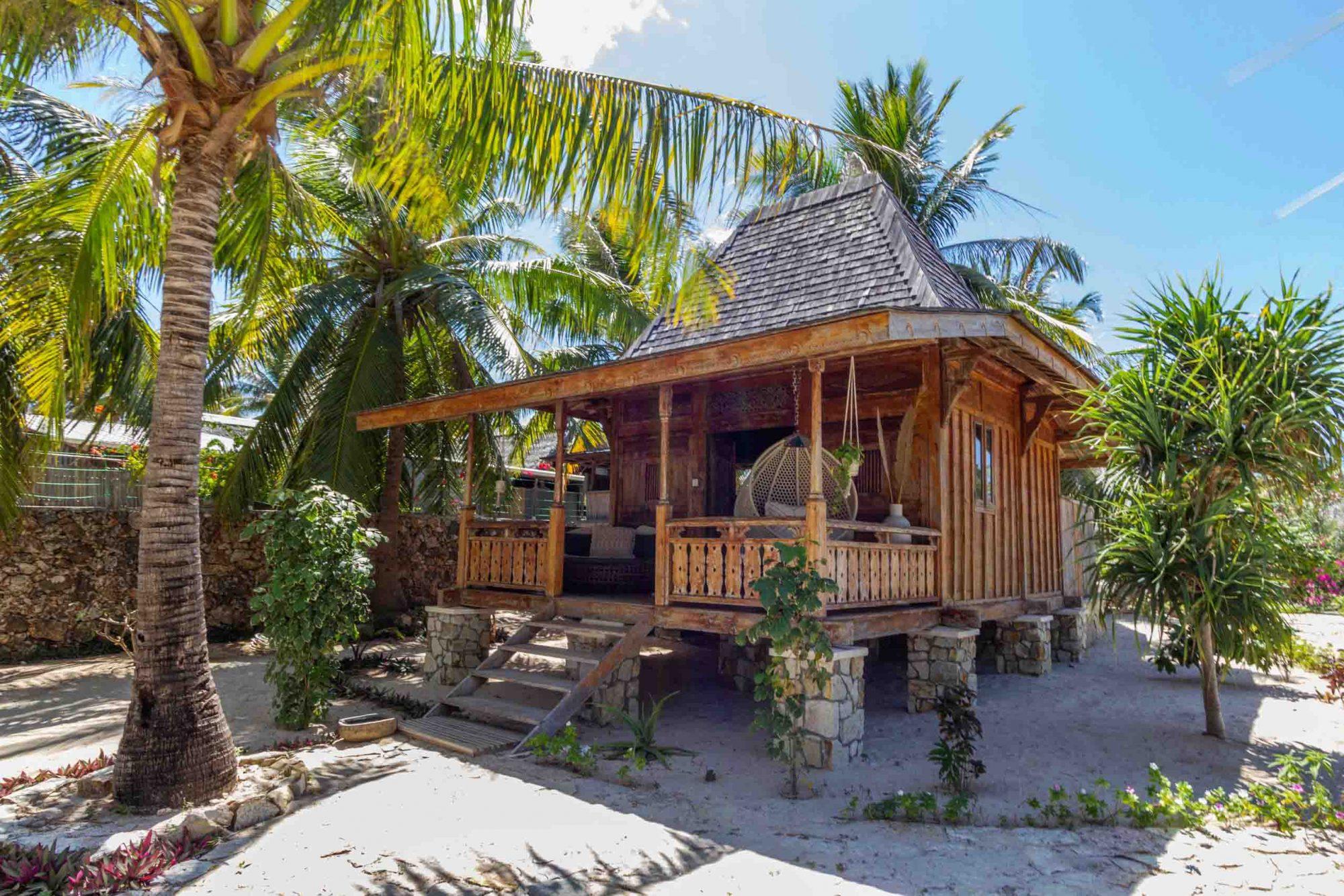 Beachfront bungalow seed resort