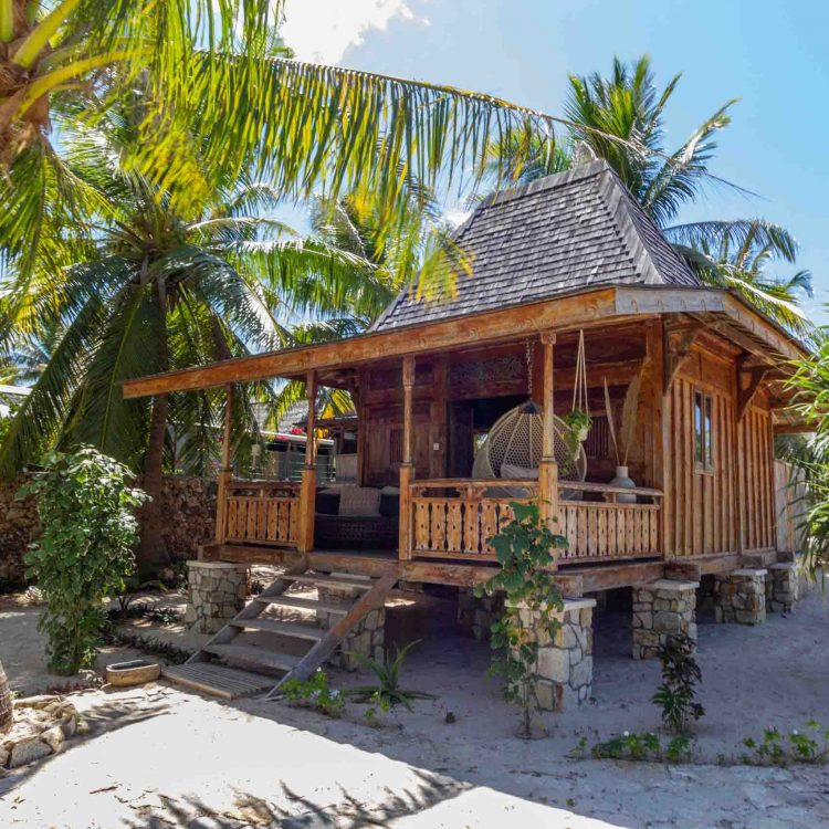 Beachfront bungalow seed resort