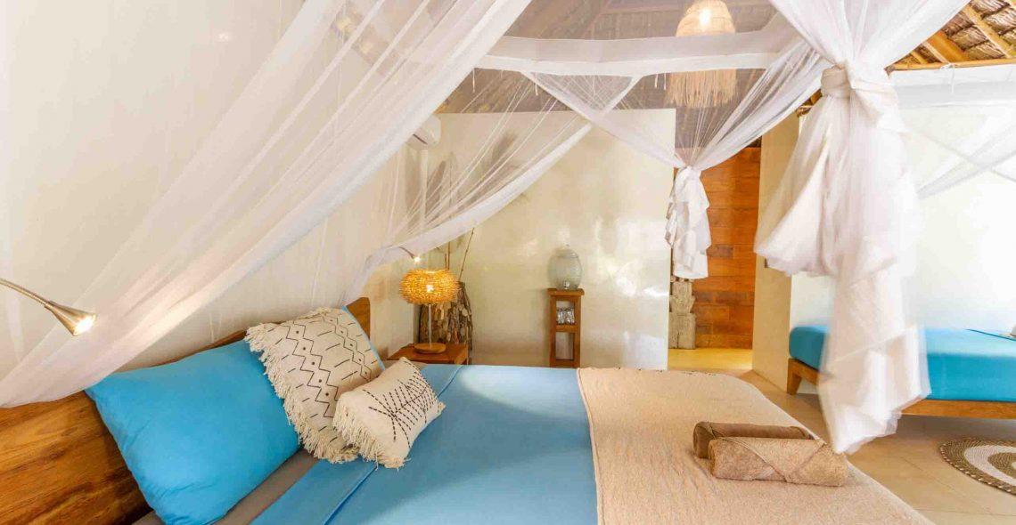 spacious yoga accommodation