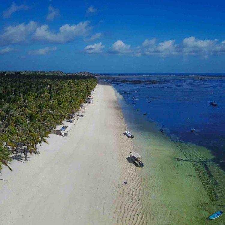 Drone seed resort beach